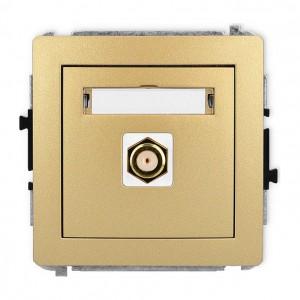 Karlik Deco 29DGF-1.1 - Gniazdo antenowe SAT pojedyncze typu F, gniazdo pozłacane - Złoty - Podgląd zdjęcia producenta