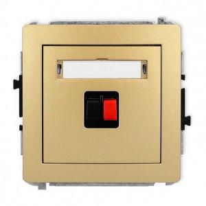 Karlik Deco 29DGG-1 - Gniazdo głośnikowe pojedyncze, przyłącze 2,5mm2 - Złoty - Podgląd zdjęcia producenta