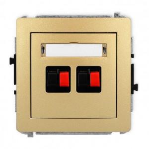 Karlik Deco 29DGG-2 - Gniazdo głośnikowe podwójne, przyłącze 2,5mm2 - Złoty - Podgląd zdjęcia producenta