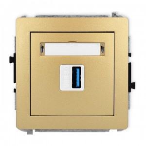Karlik Deco 29DGUSB-5 - Gniazdo USB pojedyncze typu A-A, wersja 3.0 - Złoty - Podgląd zdjęcia producenta