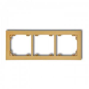 Karlik Deco 29DR-3 - Ramka potrójna DECO - Złoty - Podgląd zdjęcia producenta