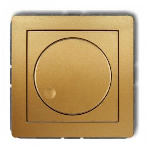 Karlik Deco 29DRO-2 - Ściemniacz przyciskowo-obrotowy do oświetlenia typu LED 0-100W - Złoty - Podgląd zdjęcia producenta