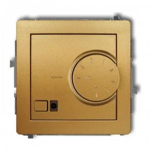 Karlik Deco 29DRT-1 - Regulator temperatury z czujnikiem zewnętrznym 3200W (termostat), sonda w zestawie, zakres 5-40st. - Złoty - Podgląd zdjęcia producenta