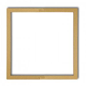 Karlik Deco 29DRW-1 - Ramka wypełniająca pojedyncza, eliminuje przestrzeń pomiędzy ramką, a ścianą, wyłącznie do ramek DECO oraz DECO Pastel Matt - Złoty - Podgląd zdjęcia producenta