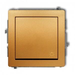 Karlik Deco 29DWP-5 - Przycisk zwierny z piktogramem Światła 10A, zaciski śrubowe - Złoty - Podgląd zdjęcia producenta
