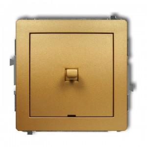 Karlik Deco 29DWPUS-1 - Łącznik pojedynczy dźwigniowy 10A, zaciski śrubowe - Złoty - Podgląd zdjęcia producenta