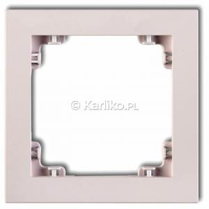 Karlik Deco 40DR-1 - Ramka pojedyncza DECO Pastel Matt - Pudrowy Róż - Podgląd zdjęcia producenta