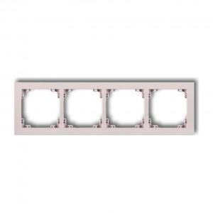 Karlik Deco 40DR-4 - Ramka czterokrotna DECO Pastel Matt - Pudrowy Róż - Podgląd zdjęcia producenta