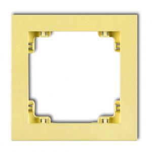 Karlik Deco 43DR-1 - Ramka pojedyncza DECO Pastel Matt - Kanarkowy - Podgląd zdjęcia producenta