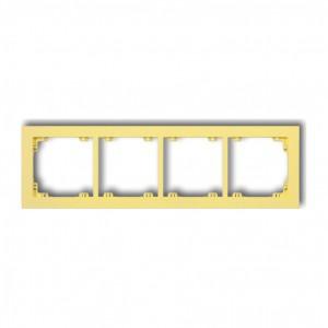 Karlik Deco 43DR-4 - Ramka czterokrotna DECO Pastel Matt - Kanarkowy - Podgląd zdjęcia producenta