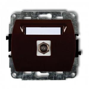 Karlik Trend 4GF-1 - Gniazdo antenowe SAT pojedyncze typu F, gniazdo niklowane - Srebrny - Podgląd zdjęcia producenta