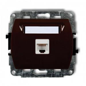 Karlik Trend 4GK-1e - Gniazdo komputerowe pojedyncze 1x RJ45 kat.5e, ekranowane, 8 stykowe - Srebrny - Podgląd zdjęcia producenta