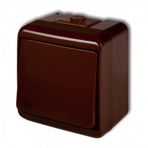 Karlik Junior 4WHE-4 - Przycisk zwierny dzwonek hermetyczny IP56 - Brązowy - Podgląd zdjęcia producenta