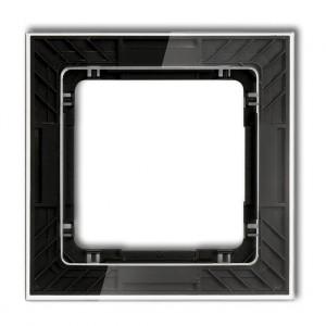 Karlik Deco 52-12-DRS-1 - Ramka pojedyncza DECO Art Efekt Szkła - Podstawa w kolorze Czarnym - Plexi Przezroczyste - Podgląd zdjęcia producenta