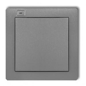 Karlik Deco 7DEF-1 - Nadajnik 1-klawiszowy, 2-kanałowy dla systemu Zamel Exta Free - Srebrny Metalik - Podgląd zdjęcia producenta