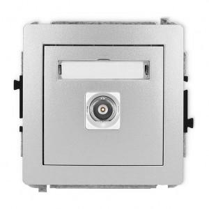 Karlik Deco 7DGBNC-1 - Gniazdo pojedyncze typu BNC - Srebrny Metalik - Podgląd zdjęcia producenta