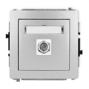 Karlik Deco 7DGF-1 - Gniazdo antenowe SAT pojedyncze typu F, gniazdo niklowane - Srebrny Metalik - Podgląd zdjęcia producenta