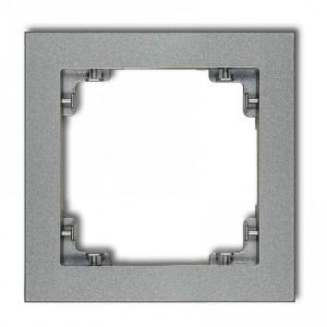 Karlik Deco 7DR-1 - Ramka pojedyncza DECO - Srebrny Metalik - Podgląd zdjęcia producenta