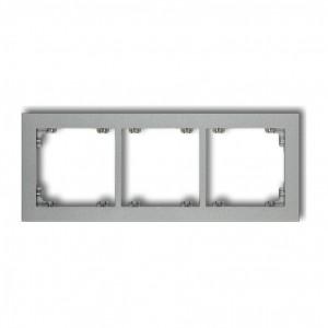 Karlik Deco 7DR-3 - Ramka potrójna DECO - Srebrny Metalik - Podgląd zdjęcia producenta