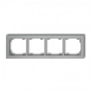 Karlik Deco 7DR-4 - Ramka czterokrotna DECO - Srebrny Metalik - Podgląd zdjęcia producenta