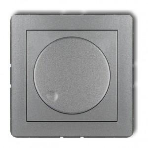 Karlik Deco 7DRO-1 - Ściemniacz przyciskowo-obrotowy do oświetlenia żarowego i halogenowego 40-400W - Srebrny Metalik - Podgląd zdjęcia producenta
