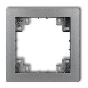 Karlik Deco 7DRP - Ramka pośrednia - Srebrny Metalik - Podgląd zdjęcia producenta