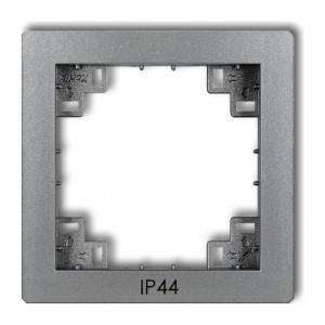 Karlik Deco 7DRPH - Ramka pośrednia z piktogramem IP44 - Srebrny Metalik - Podgląd zdjęcia producenta