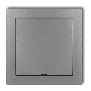 Karlik Deco 7DRPZ - Zaślepka ramki, wymagana kostka KM w przypadku ramki pojedynczej i/lub miejsc skrajnych ramki - Srebrny Metalik - Podgląd zdjęcia producenta