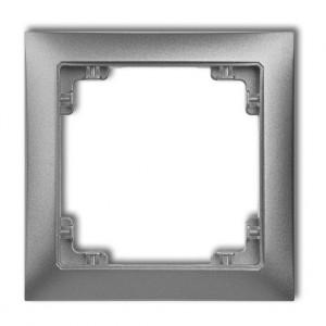 Karlik Deco 7DRSO-1 - Ramka pojedyncza DECO Soft - Srebrny Metalik - Podgląd zdjęcia producenta