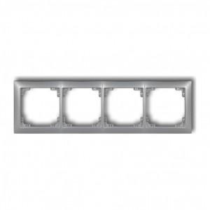 Karlik Deco 7DRSO-4 - Ramka czterokrotna DECO Soft - Srebrny Metalik - Podgląd zdjęcia producenta