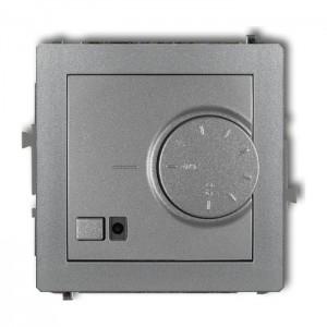 Karlik Deco 7DRT-2 - Regulator temperatury z czujnikiem wewnętrznym 3200W (termostat), zakres 5-40st. - Srebrny Metalik - Podgląd zdjęcia producenta