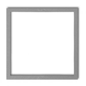 Karlik Deco 7DRW-1 - Ramka wypełniająca pojedyncza, eliminuje przestrzeń pomiędzy ramką, a ścianą, wyłącznie do ramek DECO oraz DECO Pastel Matt - Srebrny Metalik - Podgląd zdjęcia producenta