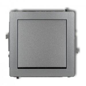 Karlik Deco 7DWP-4.1 - Przycisk zwierny 10A, zaciski śrubowe - Srebrny Metalik - Podgląd zdjęcia producenta