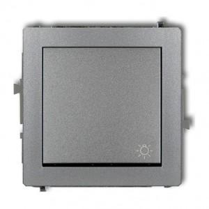 Karlik Deco 7DWP-5 - Przycisk zwierny z piktogramem Światła 10A, zaciski śrubowe - Srebrny Metalik - Podgląd zdjęcia producenta