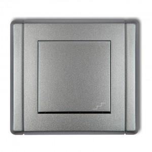 Karlik Flexi 7FWP-3 - Łącznik schodowy 10A, zaciski śrubowe - Srebrny Metalik - Podgląd zdjęcia producenta