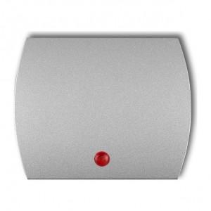 Karlik Trend 7KZO - Puszka montażowa natynkowa, pojedyncza - Srebrny Metalik - Podgląd zdjęcia producenta