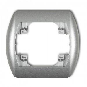 Karlik Trend 7RH-1 - Ramka pojedyncza TREND - Srebrny Metalik - Podgląd zdjęcia producenta