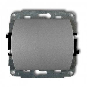 Karlik Trend 7WP-1 - Łącznik pojedynczy 10A, zaciski śrubowe - Srebrny Metalik - Podgląd zdjęcia producenta
