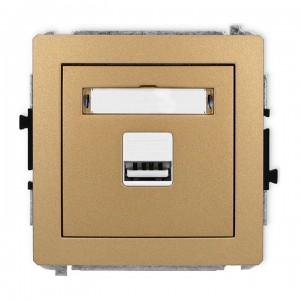 Karlik Deco 8DCUSB-1 - Ładowarka USB, napięcie 5V, prąd 1A - Złoty Metalik - Podgląd zdjęcia producenta
