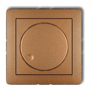 Karlik Deco 8DRO-2 - Ściemniacz przyciskowo-obrotowy do oświetlenia typu LED 0-100W - Złoty Metalik - Podgląd zdjęcia producenta