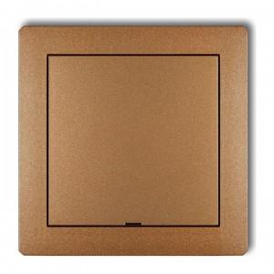 Karlik Deco 8DRPZ - Zaślepka ramki, wymagana kostka KM w przypadku ramki pojedynczej i/lub miejsc skrajnych ramki - Złoty Metalik - Podgląd zdjęcia producenta