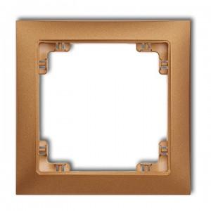 Karlik Deco 8DRSO-1 - Ramka pojedyncza DECO Soft - Złoty Metalik - Podgląd zdjęcia producenta