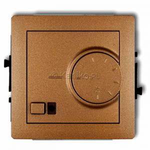 Karlik Deco 8DRT-1 - Regulator temperatury z czujnikiem zewnętrznym 3200W (termostat), sonda w zestawie, zakres 5-40st. - Złoty Metalik - Podgląd zdjęcia producenta