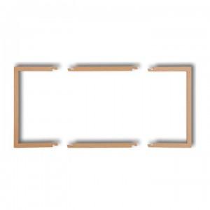 Karlik Deco 8DRW-2 - Ramka wypełniająca podwójna, eliminuje przestrzeń pomiędzy ramką, a ścianą, wyłącznie do ramek DECO oraz DECO Pastel Matt - Złoty Metalik - Podgląd zdjęcia producenta