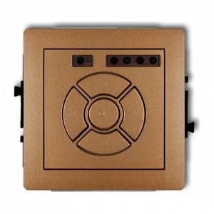 Karlik Deco 8DSR-1 - Elektroniczny sterowniik roletowy, sterowanie lokalne - Złoty Metalik - Podgląd zdjęcia producenta