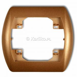 Karlik Trend 8RH-1 - Ramka pojedyncza TREND - Złoty Metalik - Podgląd zdjęcia producenta