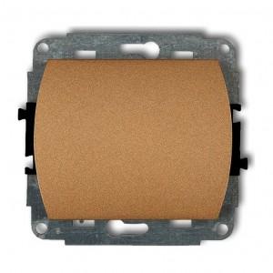 Karlik Trend 8WP-1 - Łącznik pojedynczy 10A, zaciski śrubowe - Złoty Metalik - Podgląd zdjęcia producenta
