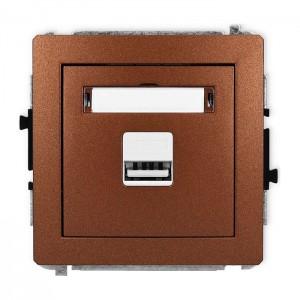 Karlik Deco 9DCUSB-1 - Ładowarka USB, napięcie 5V, prąd 1A - Brązowy Metalik - Podgląd zdjęcia producenta
