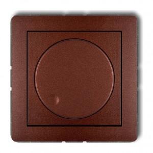 Karlik Deco 9DRO-1 - Ściemniacz przyciskowo-obrotowy do oświetlenia żarowego i halogenowego 40-400W - Brązowy Metalik - Podgląd zdjęcia producenta