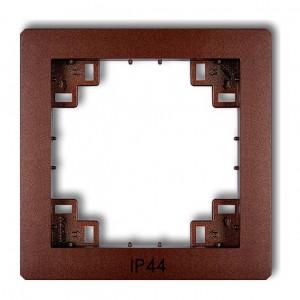 Karlik Deco 9DRPH - Ramka pośrednia z piktogramem IP44 - Brązowy Metalik - Podgląd zdjęcia producenta